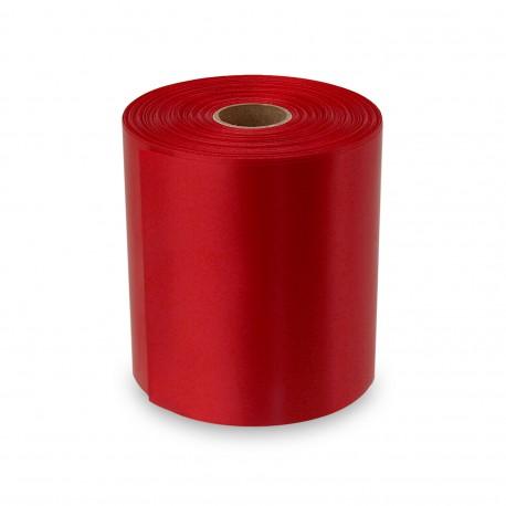 Nastro di raso stampabile rosso da 100 mm