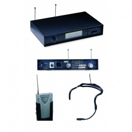 Microfono wireless headset bi-direzionale, con ricevitore - serie 9000